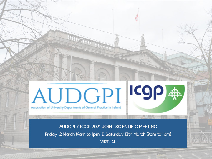 2021 AUDGPI and ICGP Annual Joint Scientific Meeting (Virtual)